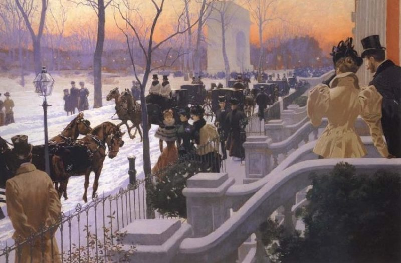 Washington Square Park NYC in the Winter 1897 – Fernand Harvey Lungren